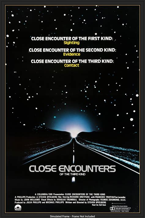 Close Encounters of the Third Kind (1977) One Sheet Movie