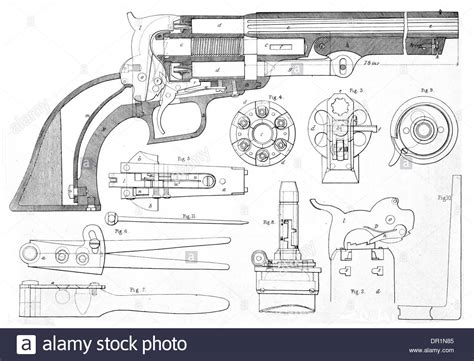 Colt's Patent Repeating Pistol In Cross Section Showing ...