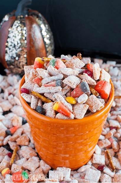 Halloween Pumpkin Spice Muddy Buddies Snack Salty