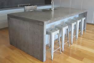 kitchen work table island concrete studio handmade concrete bench tops and basins