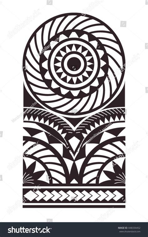 maori polynesian bracelets tattoo stencil pattern stock