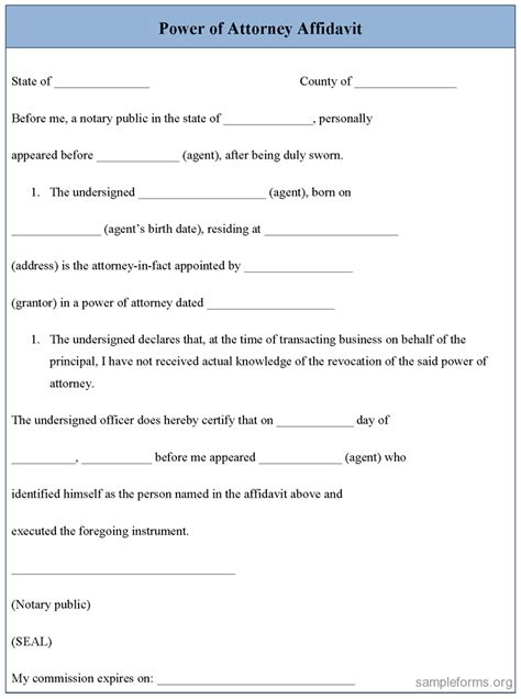 Affidavit Template 38 Exles Of Affidavit Form Templates Thogati