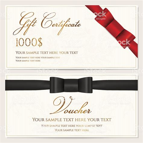 voucher gift certificate card coupon invitation template