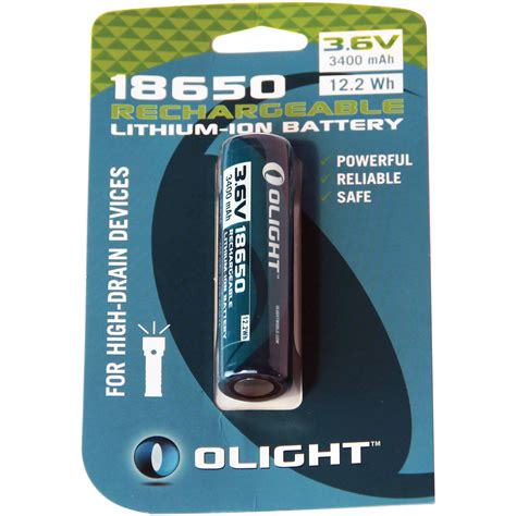 Pm Lighting by Olight 18650 Rechargeable Lithium Ion Battery 18650