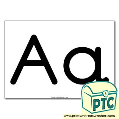 aa letters poster  images primary treasure chest