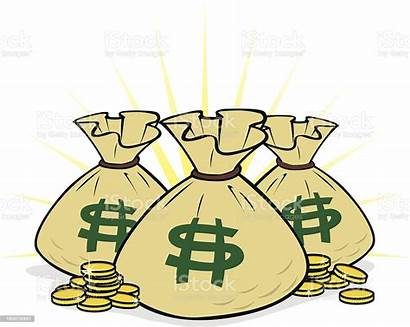 Money Bags Illustration Vector Istock Illustrations Abundance