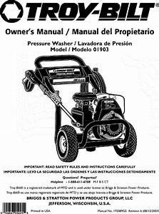 Troybilt 01903 User Manual Pressure Washer Manuals And