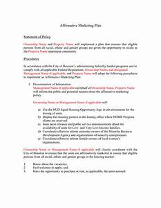 fair housing marketing plan sample home design and style With apartment marketing plan template