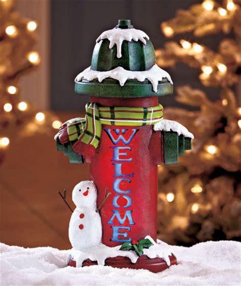 hydrant decor snowman winter welcome hydrant