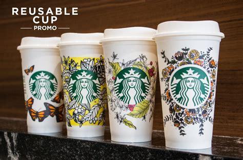 green  starbucks reusable cup eco friendly promo