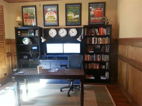 Ikea Hack Hemnes Bookcase by Office Workstation From Two Hemnes Bookcases And Large