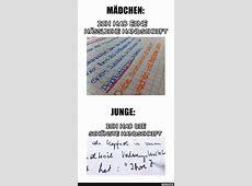 Handschrift von Jungen und Mädchen Lustige Bilder