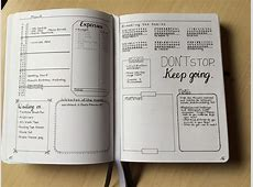 Bullet journal monthly spread ideas and inspiration