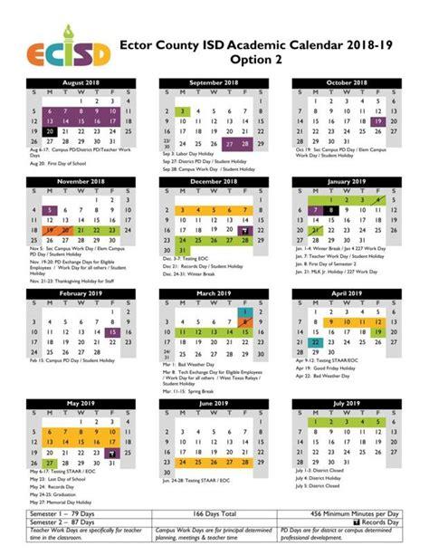 ecisd school year calendar odessa american ecisd