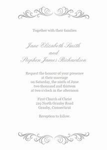 flourishes invitation in silver wedding invitation With wedding invitation header design
