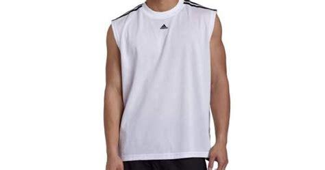 kaos adidas 4 adidas s 3 stripes sleeveless tank top white black x