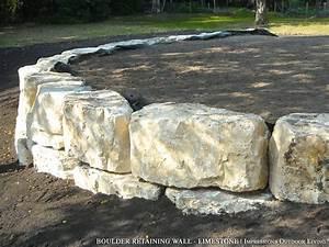 Boulder Retaining Wall - Limestone   Retaining Walls ...