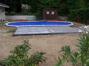 Piscine A Enterrer : encore la terrasse enterrer piscine hors sol ~ Zukunftsfamilie.com Idées de Décoration