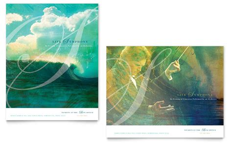 symphony orchestra concert event poster template word