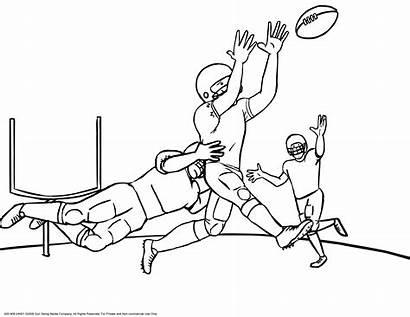 Coloring Pages Bowl Super Football Field Popular
