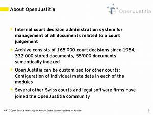 open source systems in justice With legal document management software open source