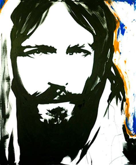 Abstract Jesus Black And White by Jesuspainter Ministries Live Painting Performances Of Jesus