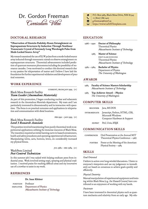 Curriculum Vitae Layout Template by Templates 187 Curricula Vitae R 233 Sum 233 S