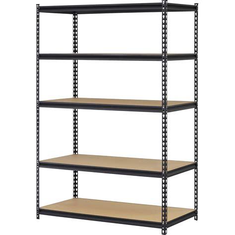 Metal Storage Shelves by Steel Metal Storage Rack Organizer Black 5 Adjustable