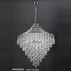 Diyas Lighting IL30773 Inina 7 Light Large Chrome/Crystal
