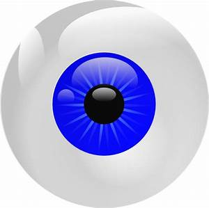 Eyeball Blue Clip Art at Clker.com - vector clip art ...