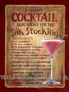 Plaque Vintage Metal : retro metal plaque silk stocking cocktail sign ad ebay ~ Teatrodelosmanantiales.com Idées de Décoration