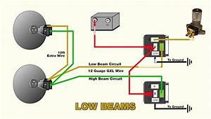 How To Wire Headlight Relays - Youtube