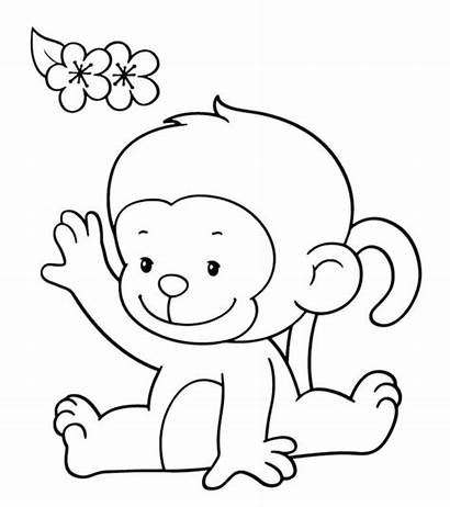 Monkey Coloring Pages Printable Cartoon Momjunction Colouring