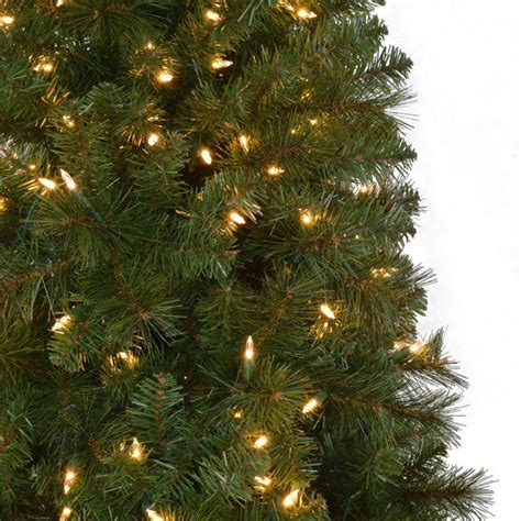 reviews home accent welsley spruce christmas tree home accents 7 5 ft pre lit led wesley slim spruce set artificial tree