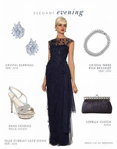 navy evening gown for mother of the bride or groom With how to accessorize a navy blue dress for a wedding