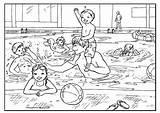 Pool Swimming Coloring Colouring Familia Colorir Piscine Natation Inot Colorat Desenho Dibujos Imagini Maternelle Pools Dibujar Tudodesenhos Piscina Adults Ausmalbilder sketch template