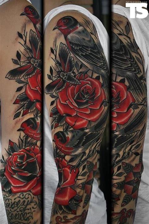 amazing sleeve tattoo body art pinterest sleeve birds  santa cruz