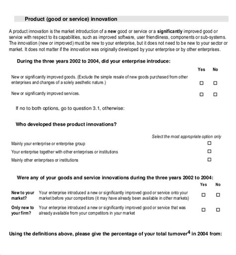 Market Research Template Doc by Product Survey Templates 13 Free Word Pdf Documents