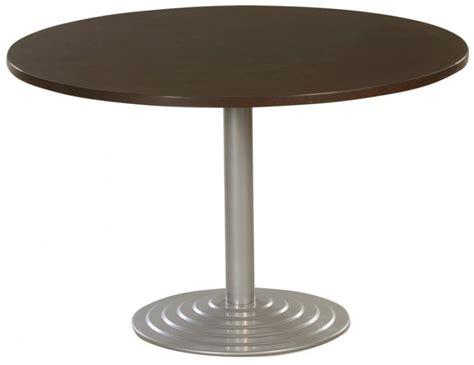 location bureau à l heure table ronde diamètre 120 cm plateau colori wengé piétement