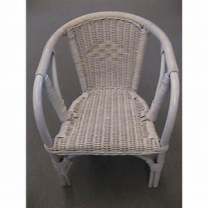 Fauteuil Rotin Enfant : fauteuil d 39 enfant edgar en rotin coloris blanc ~ Teatrodelosmanantiales.com Idées de Décoration