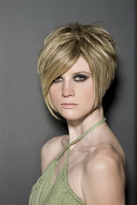 layered short haircuts  women