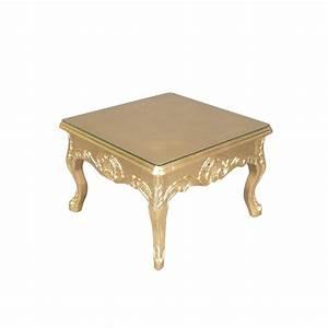 Table Basse Dorée : table basse baroque dor e meuble baroque ~ Teatrodelosmanantiales.com Idées de Décoration
