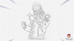 How To Draw A Fortnite Skin Easy Step By Step