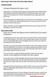 Volvo Penta Stern Drives Repair Manual 2003-2012