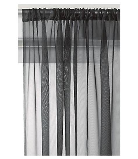slot top sheer voile rod pocket window door curtain panel