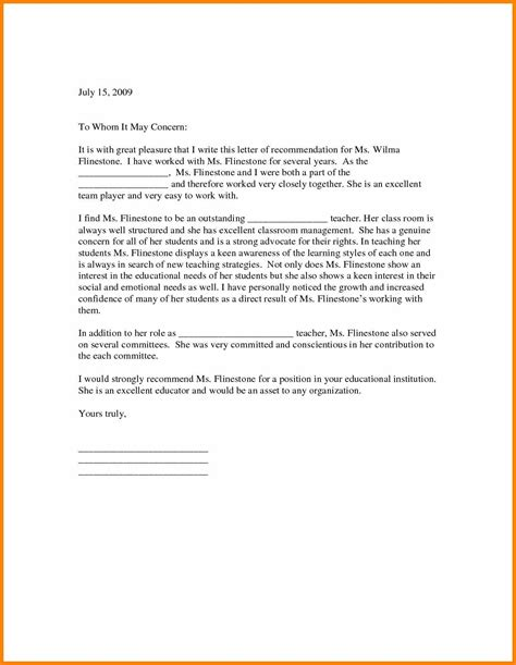 letter of recommendation for student template of recommendation let sarahepps 13013