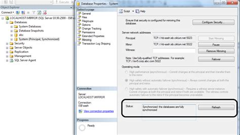 T Sql Resume Mirroring by Sql Server Knowledge Finding Current Database Mirroring State In Sql Server