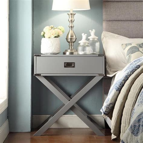 Building Bedroom End Tables by Inspire Q Kenton X Base Wood Accent Table Overstock