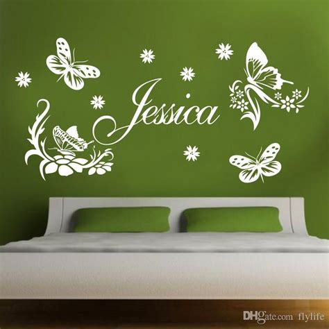 custom made butterfly personalized name vinyl wall