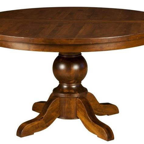 Amish Round Pedestal Dining Table   Surrey Street Rustic